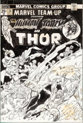 Original Comic Art:Covers, Gil Kane Marvel Team-Up #26 Cover Human Torch and ThorOriginal Art (Marvel, 1974)....