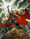 Original Comic Art:Paintings, Greg Staples - The Mighty Thor Painting Original Art (2007)....