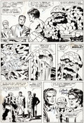 Original Comic Art:Panel Pages, Jack Kirby and Frank Giacoia Fantastic Four