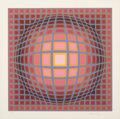Prints & Multiples, Victor Vasarely (1906-1997). Titan-C, c. 1970's . Screenprint in colors on paper. 18-1/2 x 18-1/2 inches (47 x 47 cm) (s...
