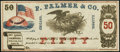 Obsoletes By State:Illinois, Chicago, IL- P. Palmer & Co. 50¢ 186_ Remainder. ...
