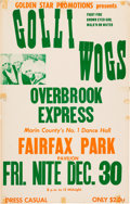 Music Memorabilia:Posters, Golliwogs/Creedence Clearwater Revival Fairfax Park Concert Poster (Golden Star Promotions Presents, 1966). Very Rare....