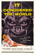 "Movie Posters:Science Fiction, It Conquered the World (American International, 1956). Fine+ on Linen. One Sheet (27"" X 41""). Albert Kallis Artwork. Science..."