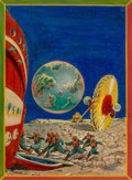 Mainstream Illustration, Frank R. Paul (American, 1884-1963). The Vanguard to Neptune,Wonder Stories Quarterly cover, Spring 1932. Mixed media o...