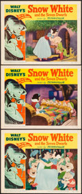 "Movie Posters:Animation, Snow White and the Seven Dwarfs (RKO, R-1951). Lobby Cards (3) (11""X 14""). Animation.. ... (Total: 3 Items)"
