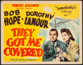 """Movie Posters:Comedy, They Got Me Covered (RKO, 1942). Autographed Title Lobby Card (11""""X 14""""). Comedy.. ..."""