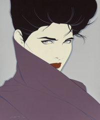 Patrick Nagel (American, 1945-1984) Untitled Acrylic on canvas 48 x 40 in. Signed lower left
