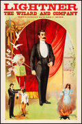 """Movie Posters:Miscellaneous, Lightner the Wizard and Company (1900s). Magician Poster (19.5"""" X29.75""""). Miscellaneous.. ..."""