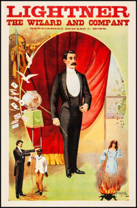 """Lightner the Wizard and Company (1900s). Magician Poster (19.5"""" X 29.75""""). Miscellaneous"""