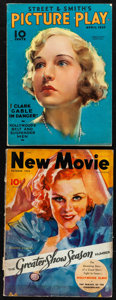 "Movie Posters:Miscellaneous, The New Movie Magazine (Tower, 1932/1933). Magazines (2) (MultiplePages, 8.5"" X 11.5""). Miscellaneous.. ... (Total: 2 Items)"