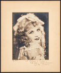 "Movie Posters:Miscellaneous, Vivian Duncan (1924). Portrait Photo with Autographed Mat (15.5"" X18.75). Miscellaneous.. ..."