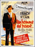 """Movie Posters:Thriller, Bad Day at Black Rock (Les Acacias, R-1980s). French Grande (47"""" X63""""). Thriller.. ..."""