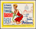 "Movie Posters:Foreign, La Parisienne (United Artists, 1958). Half Sheet (22"" X 28"") Style A. Foreign.. ..."