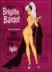 "Le Mepris (Embassy,1963). Danish Poster (24.25"" X 33.5""). Foreign"