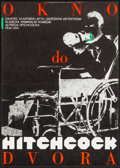"Movie Posters:Hitchcock, Rear Window (Paramount, 1989). Czech First Release Poster (11.75"" X16.75""). Milan Grygar Artwork. Hitchcock.. ..."