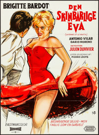 "A Woman Like Satan (United Artists, 1959). Danish Poster (24.25"" X 33.5"") Yves Thos Artwork. Bad Girl"