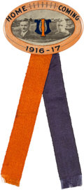 Football Collectibles:Others, 1916-17 University of Illinois Homecoming Pinback Button....