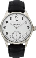 "Timepieces:Wristwatch, IWC, Rare Portuguese ""FA Jones"", Platinum, Limited Edition 211/500, Ref: IW544202, Circa 2005. ..."