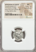Ancients:Greek, Ancients: PERSIS KINGDOM. Vadfradad (Autophradates) II. Ca. early-mid-2nd century BC. AR drachm (17mm, 4.04 gm, 6h). NGC MS 5/5 - 4/5....