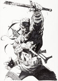Original Comic Art:Covers, Jim Lee Deathblow #12 Cover Original Art (Image, 1995)....