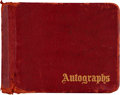 Autographs:Others, 1948 New York Giants Team Signed Autograph Book with JackieGleason....