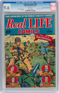Real Life Comics #20 Mile High Pedigree (Nedor Publications, 1944) CGC NM+ 9.6 White pages