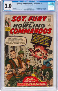 Sgt. Fury and His Howling Commandos #1 (Marvel, 1963) CGC GD/VG 3.0 Off-white pages