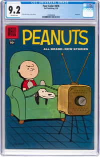 Four Color #878 Peanuts (Dell, 1958) CGC NM- 9.2 Off-white pages