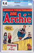 Golden Age (1938-1955):Humor, Archie Comics #14 (Archie, 1945) CGC NM 9.4 White pages....
