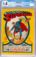 Golden Age (1938-1955):Superhero, Superman #1 (DC, 1939) CGC GD- 1.8 Off-white pages....