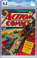 Action Comics #46 (DC, 1942) CGC VG+ 4.5 Off-white to white pages