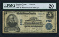 National Bank Notes:Texas, Houston, TX - $5 1902 Plain Back Fr. 601 The Union NB Ch. # 9712. ...