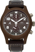 "Timepieces:Wristwatch, IWC, Rare Pilot ""Saint Exupery"", Brown Ceramic Cased Chronograph, Ref: IW388004, Circa 2014. ..."