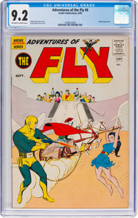 Adventures of the Fly #8 (Archie, 1960) CGC NM- 9.2 Off-white to white pages