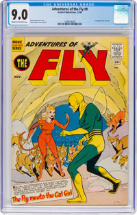 Adventures of the Fly #9 (Archie, 1960) CGC VF/NM 9.0 Cream to off-white pages