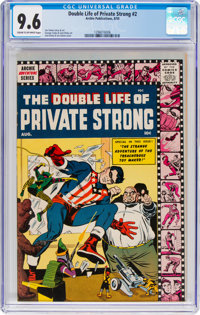 The Double Life of Private Strong #2 (Archie, 1959) CGC NM+ 9.6 Cream to off-white pages