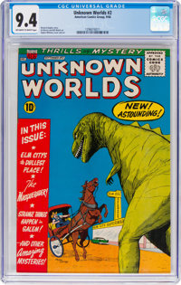 Unknown Worlds #2 (ACG, 1960) CGC NM 9.4 Off-white to white pages