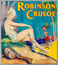 Movie Posters:Miscellaneous, Pantomime Theatre - Robinson Crusoe (Taylors Printers, 1930s).British Theater Six Sheet (79.5 X 88.75). Miscellaneous.. ...