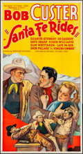 """Movie Posters:Western, Santa Fe Rides (Reliable, 1937). Three Sheet (41"""" X 77.5"""").Western.. ..."""