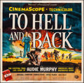 "Movie Posters:War, To Hell and Back (Universal International, 1955). Six Sheet (79"" X79"") Reynold Brown Artwork. War.. ..."
