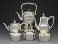 Silver Holloware, American:Tea Sets, A Six-Piece Tiffany & Co. Hampton Pattern Silver Tea and Coffee Service, designed 1934, manufactured 1934 and la... (Total: 6 Items)