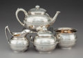 Silver Holloware, American:Tea Sets, A Four-Piece Tiffany & Co. Silver Tea Set, New York, circa1870. Marks: TIFFANY & CO, QUALITY 925-1000, (Gothic M),UN... (Total: 4 Items)