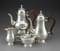 Silver Holloware, American:Tea Sets, A Four-Piece Gorham Mfg. Co. Silver Coffee and Tea Service,Providence, Rhode Island, 1966. Marks to coffee pot:Gorham,... (Total: 4 Items)