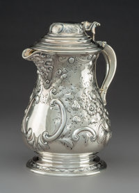 A John Aldwinckle & James Slater Victorian Silver Flagon, London, 1882 Marks: (lion passant), (leopard), (duty mar...