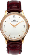 Timepieces:Wristwatch, Jaeger-LeCoultre, Master Control Ultra Thin Manual Wind, 18K RoseGold and Diamond, Ref. 145.2.79.S, Circa 2000s. ...