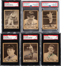 Baseball Cards:Autographs, Signed 1940 Play Ball Baseball Collection (6) - Includes Five Hall of Famers!...
