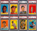 Baseball Cards:Autographs, Signed 1958 Topps Baseball Collection (16) - Includes Mays & Rival Fence Busters....