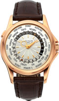 Timepieces:Wristwatch, Patek Philippe, Very Fine Ref: 5130R-001, 18k Rose Gold World TimeCalatrava, Circa 2007. ...