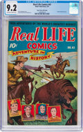 Golden Age (1938-1955):Miscellaneous, Real Life Comics #41 Mile High Pedigree (Nedor Publications, 1947) CGC NM- 9.2 Off-white to white pages....