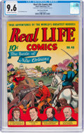 Golden Age (1938-1955):Miscellaneous, Real Life Comics #40 Double Cover - Mile High Pedigree (Nedor Publications, 1947) CGC NM+ 9.6 Off-white to white pages....